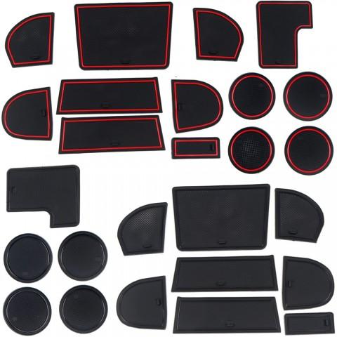 Free Shipping Water Cup Holder Mat Center Console Glove Storage Box Cushion Non-Slip Pad 13pcs For Subaru WRX STI 2015-2021
