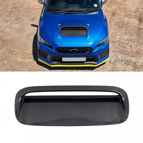 Free Shipping ABS Carbon Style Front Bonnet Hood Vent Cover Trim 1pc For Subaru WRX STI 2015-2021