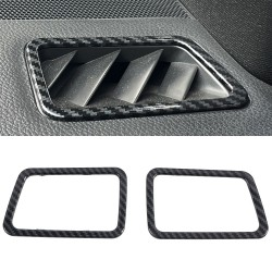 Free Shipping ABS Carbon Style Dashboard Console Upper A/C Air Vent Cover Trim 2pcs For Subaru WRX STi 2015-2020