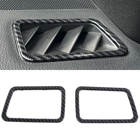Free Shipping ABS Carbon Style Dashboard Console Upper A/C Air Vent Cover Trim 2pcs For Subaru WRX STi 2015-2021