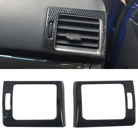 Free Shipping ABS Carbon Style Dashboard Console Side A/C Air Vent Cover Trim 2pcs For Subaru WRX STi 2015-2020