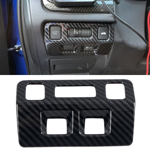 Free Shipping ABS Carbon Style Interior Dashboard Console Head Light Switch Cover Trim 1pcs For Subaru WRX STi 2015-2020