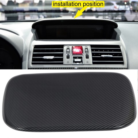 Free Shipping ABS Carbon Style Center Consoles Dashboard Instrument Panel Console Hood Cover Trim 1pcs for Subaru WRX STI 2015 2016 2017(Not Fit 2018 Model)