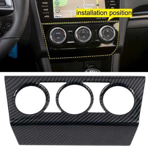 Free Shipping ABS Carbon Style Dashboard Console A/C Control Switch Panel Cover Trim 1pcs For Subaru WRX STi 2016-2021