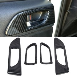 Free Shipping ABS Carbon Style Side Door Handles Bowl Cup Cover Trim 4pcs For Subaru WRX STi 2015-2020