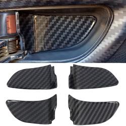 Free Shipping ABS Carbon Style Inner Handle Bowl Frame Trim For Subaru WRX STI 2015-2021