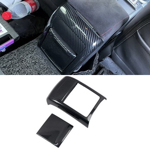 Free Shipping ABS Carbon Style Center Console Armrest Air Vent Cover Trim Kit ABS 2pcs for Subaru WRX STI 2015 2016 2017 (Not Fit 2018 Model)