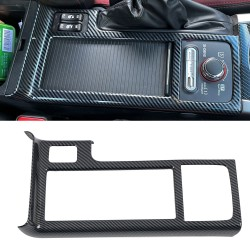 Free Shipping ABS Carbon Style Grain Center Console Gear Shift Boot Frame Cover Trim 1pc For Subaru WRX STI 2015-2021(Not Fit RHD)