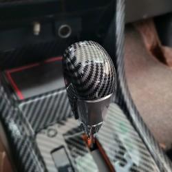 Free shipping Gear Shift Knob Cover Car Interior Decoration 2pcs For Subaru WRX STI 2015-2021