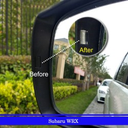 Free Shipping Side Door Mirror Turn Signal Light Assistant Covers 2pcs For Subaru WRX STI 2007-2021 (Only Fit Mirrors with Lights)