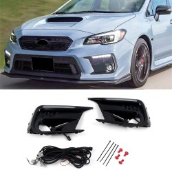 Free Shipping LED Driving Front Fog Light DRL Daytime Running Lights Lamp Kits Replacements For Subaru WRX Limited 2018-2021