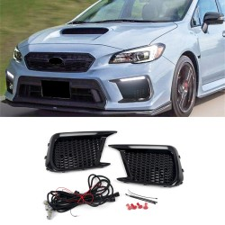 Free Shipping LED Driving Front Fog Light DRL Daytime Running Lights Lamp Kits Replacements For Subaru WRX STI 2018-2021 (Only Fit STI Version)