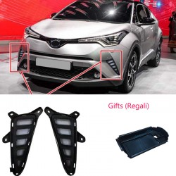 2Pcs Fog Light Daytime Running Light DRL LED Day Light For Toyota C-HR CHR 2016-2018