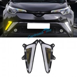 2Pcs Fog Light Daytime Running Light DRL LED Day Light For Toyota C-HR CHR 2016-2019