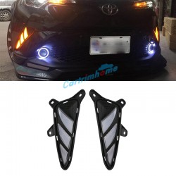 Fog Light Daytime Running Light DRL LED Day Light 2Pcs For Toyota C-HR CHR 2016-2019