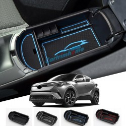 For Toyota C-HR 2016 2017 2018 Interior Black Storage Box Organizer Case