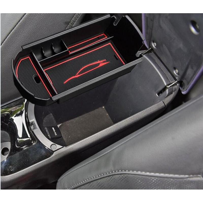 Free Shipping For Toyota C-HR 2016 2017 2018 2019 Interior Black Storage Box Organizer Case