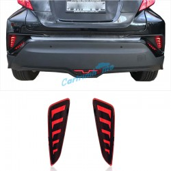 2Pcs Led Rear Tail Fog Light Lamp for Toyota C-HR CHR 2016 2017 2018