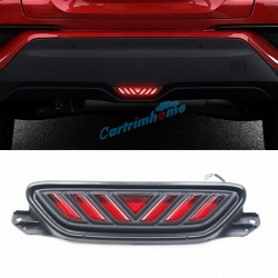 1PC Plastic Exterior Rear Brake Light LED Light Trim For Toyota C-HR CHR 2016 2017 2018