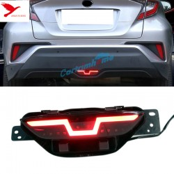 Free shipping 1PC Plastic Exterior Rear Brake Light LED Light Trim For Toyota C-HR CHR 2016 2017 2018 2019 accessories