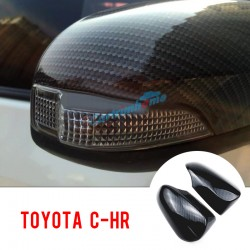 2pcs Door Mirror Cap Shell Cover Trim For Toyota C-HR CHR 2016 2017 2018