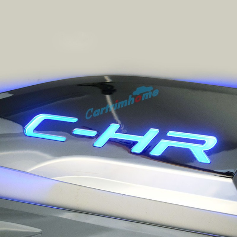 led logo style abs side door body molding cover trim pcs  toyota  hr chr