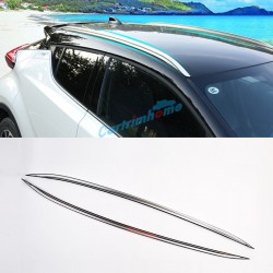 2pcs Aluminum Alloy Decoration Roof Rack Luggage Carrier For  Toyota C-HR CHR 2016-2019