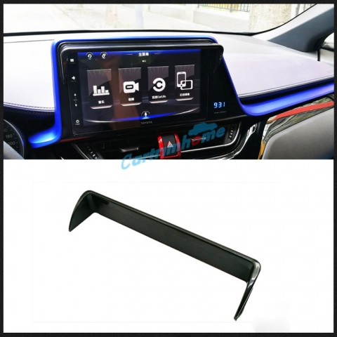 Free Shipping 1pcs Black Interior Navigation Screen Sun Visor For Toyota C-HR CHR 2016-2019