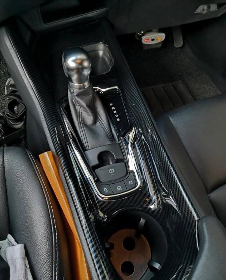 HMHN Carbon Fiber Grain Accessories Gear Shift Cover Trim 1Pcs for Chevrolet Camaro 2017 2018 2019
