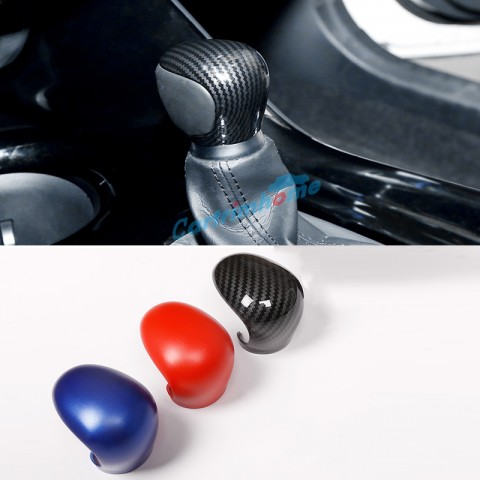 Free Shipping ABS Carbon Style Gear Shift Knob Cover Car Interior Decoration 1pcs For Toyota C-HR CHR 2016 2017 2018 2019