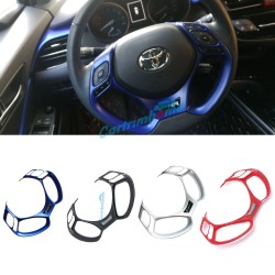 Free shipping 1PCS Interior ABS Steering Wheel Cover Trim For Toyota CHR C-HR 2016-2019