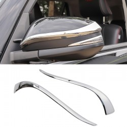 ABS Chrome Side Door Mirrors Rearview Stripe Cover Trim 2pcs For TOYOTA RAV4 2013 2014 2015 2016 2017