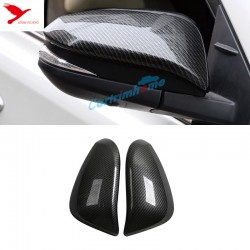 2* Carbon Fiber Style Rearview Side Mirror Cover Trim For Toyota RAV4 2013-2018
