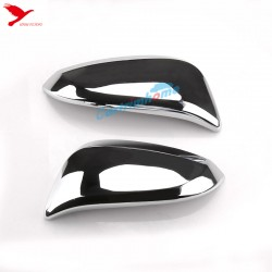 ABS Rearview Mirror Cover Trim 2PCS For TOYOTA 4Runner 2014-2021