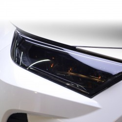 Free Shipping Dark Smoke Black Car Headlight Film Sticker Trims Wrap Accessory For TOYOTA RAV4 2019 2020 2021