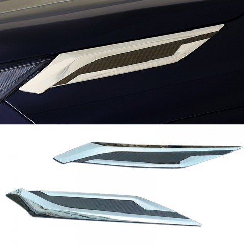 Free Shipping ABS Front Head Light Eyebrow Cover Trim 2pcs For Toyota RAV4 2019 2020 2021