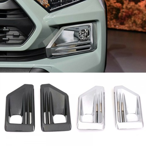 Free Shipping ABS Chrome Car Exterior Front Fog Light Lamp Cover Trim For Toyota RAV4 Adventure 2019 2020 2021
