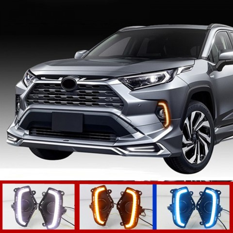 Free shipping Fog Light Daytime Running Light DRL LED Day Light 2Pcs For Toyota RAV4 2019 2020