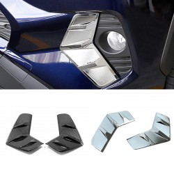 Free Shipping Chrome Front Fog Light Lamp Cover ABS Trim For Toyota RAV4 2019 2020