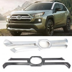 ABS Front Grill Grille Decorative Cover Trim Strips For Toyota RAV4 Adventure 2019 2020 2021