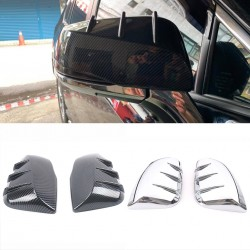 Only Fit For The mirrors with turn signals!!!Free Shipping Side Door Mirror Cover Trim 2pcs For Toyota RAV4 2019 2020 2021