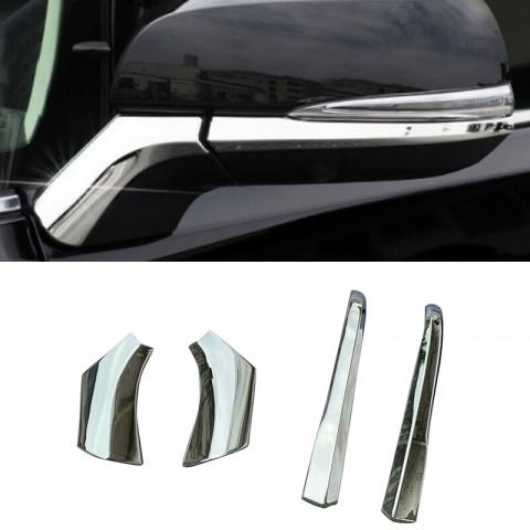 Free Shipping 4Pcs Chrome Rear View Side Mirror Decorate Trim For Toyota RAV4 2019 2020
