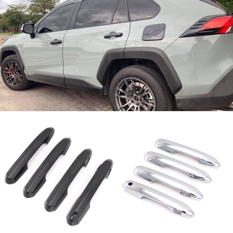 Free Shipping ABS Chrome Door Handle Cover Trim For Toyota RAV4 2019 2020 2021