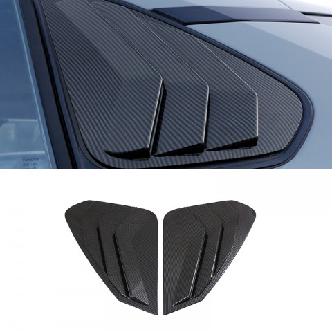 Free Shipping 2pcs Rear Triangle Window Cover For Toyota RAV4 2019 2020