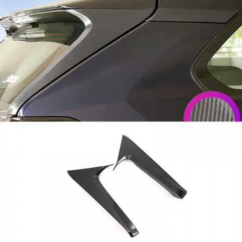 ABS Rear Window Side Stripe Cover Trim For Toyota RAV4 2019 2020 2021