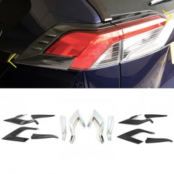 Free Shipping ABS Rear Head Light Lamp Cover Trim For Toyota RAV4 2019 2020