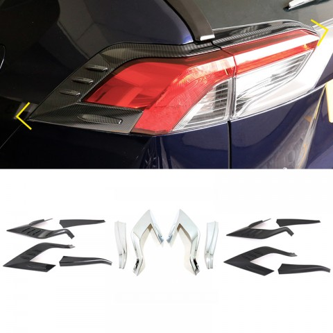 Free Shipping ABS Rear Head Light Lamp Cover Trim For Toyota RAV4 2019 2020 2021