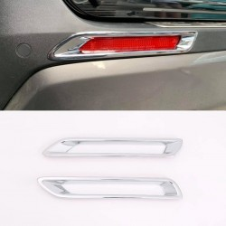 Free Shipping ABS Chrome Car Exterior Rear Fog Light Lamp Cover Trim For Toyota RAV4 2019 2020