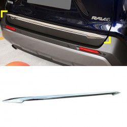 Free Shipping ABS Chrome Rear Tailgate Trunk Lid Cover Trim For Toyota RAV4 2019 2020
