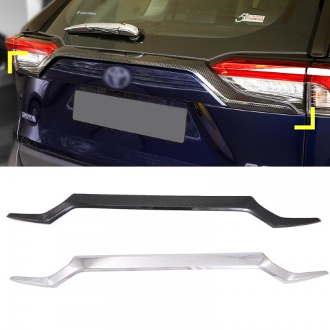 ABS Decoration Rear Trunk Streamer Tail Gate For Toyota RAV4 2019 2020 2021